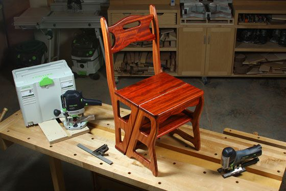 Building a Convertible Step Stool and Chair