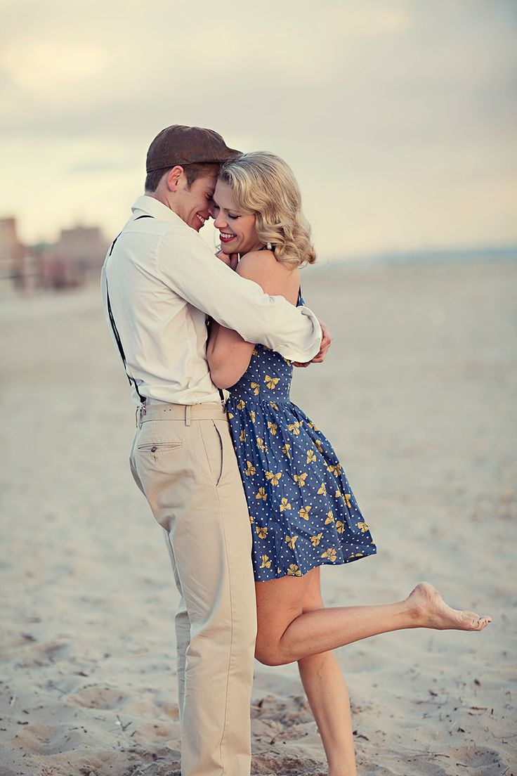 Coney Island Engagement Shoot on http://www.StyleMePretty.com/tri-state-weddings/2014/03/28/coney-island-engagement-session/ EverestRoadPhotography.com