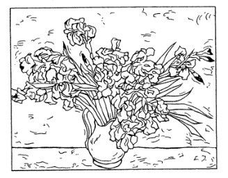 van gogh rubber stamps | Frantic Stamper Cling-Mounted Rubber Stamp - Van Gogh Irises
