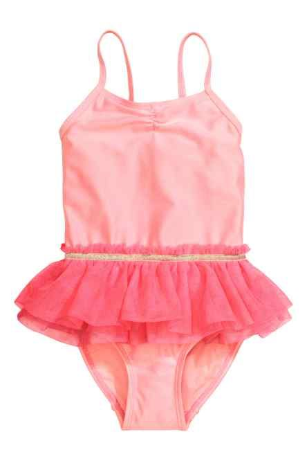 Swimsuit with a tulle skirt