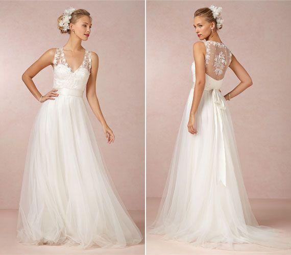 Romantikus menyasszonyi ruhák tavaszi esküvőre