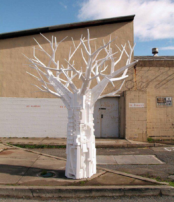 Repurposing styrofoam as art. www.stevenwolffinearts.com