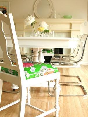 Oilcloth chair seat