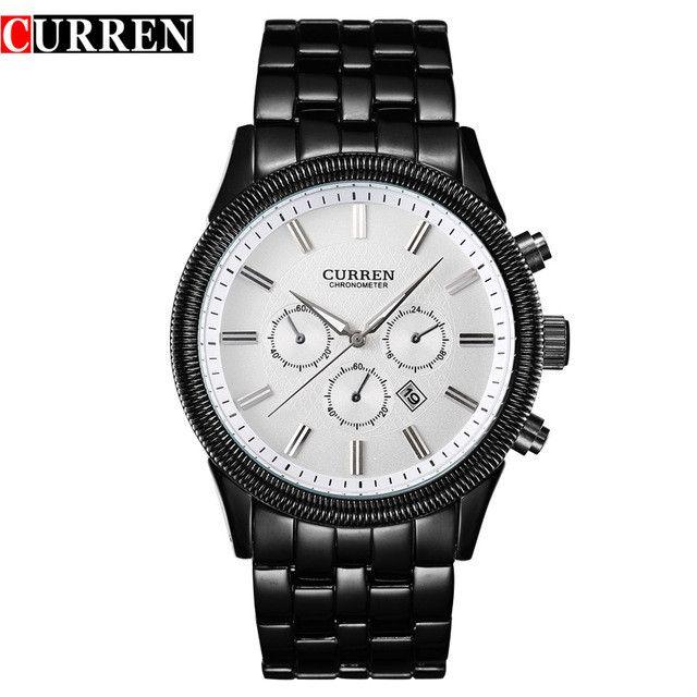 Top Men Male Luxury Watch Casual Full Steel Calendar Wristwatches Quartz Watches