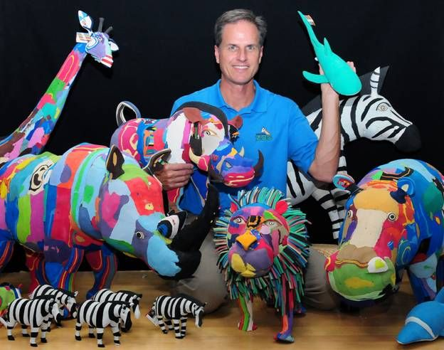 Zootastic! Virginia Zoo Director, Greg Bockheim, with his new flipflop friends