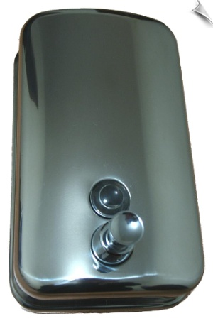Mirror finish soap dispenser quality stainless steel  Bathrooms, Kitchens, Hotels, Hospitals, Homes and all Wash stations.