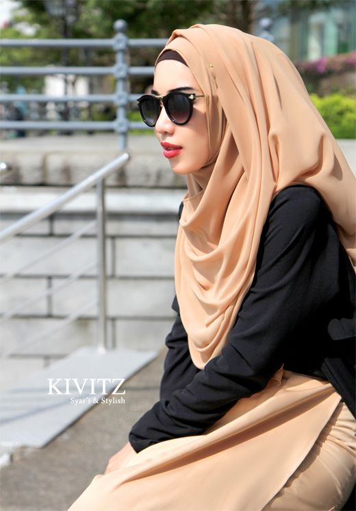 Favorite Hijab that is Syar'i (syar'i means fulfill the syariat, the rules written in al Qur'an) Simple. #hijab
