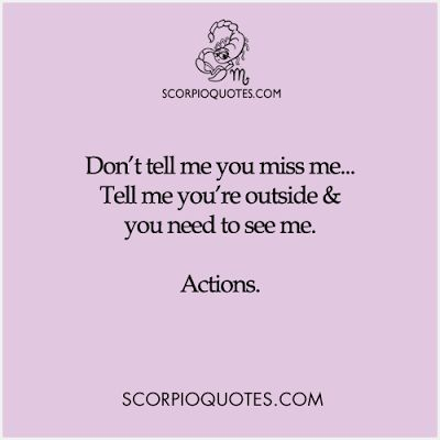 How to make a scorpio man miss you