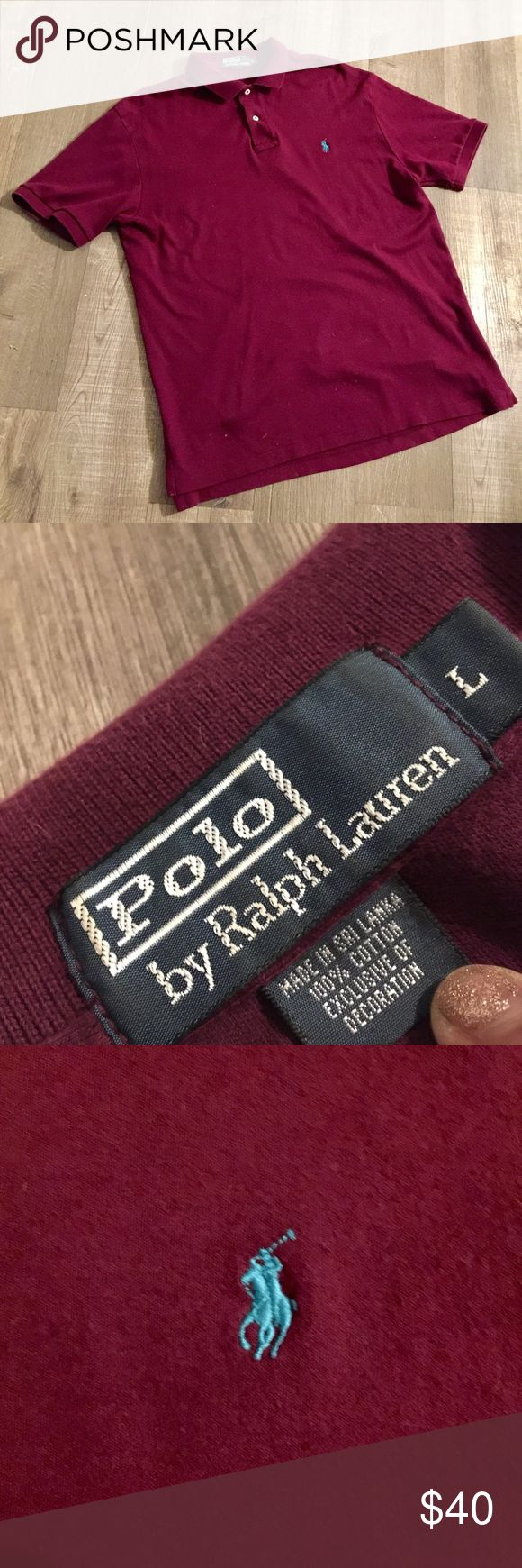Burgundy Men's Polo Shirt Burgundy Men's Polo shirt, still in really good condition! Polo by Ralph Lauren Shirts Polos