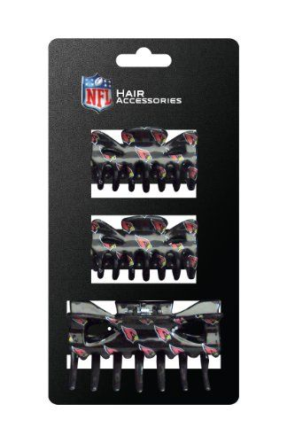 NFL Arizona Cardinals Hair Accessory Plastic Hair Clip 3Piece -- Continue with the details at the image link. #HairClips