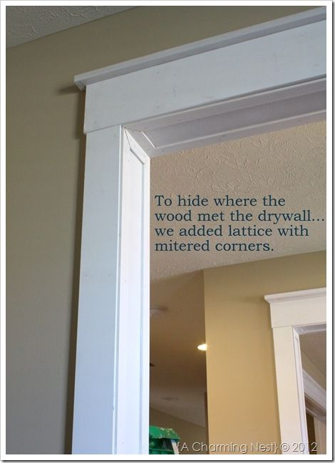 Molding Around Doorways Adds A Nice Touch Of Character To An Otherwise Standard