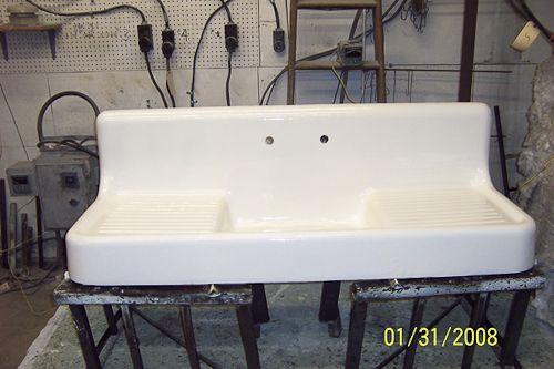 Re Enamel An Old Fashioned Kitchen Sink