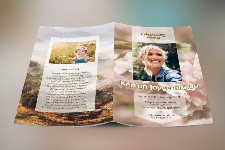 Adventure Small Funeral Program Template By Godserv Designs