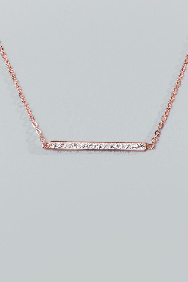 Adelynne Pearl Bar Pendant- Rose/Gold alternate
