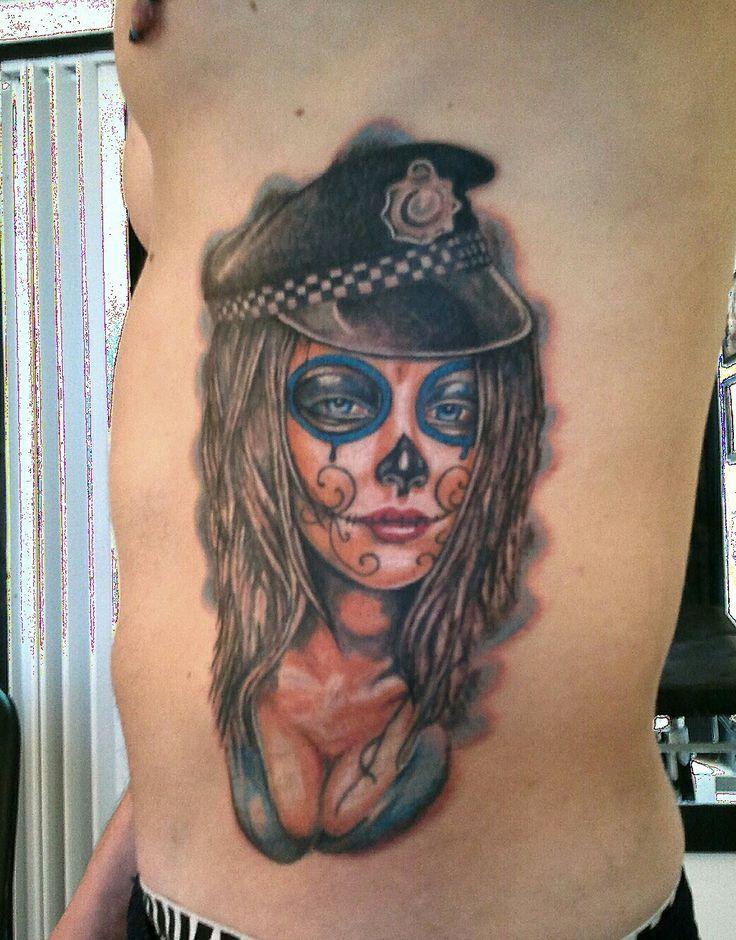 Estudio Coyote Tattoo Alcobendas  Madrid España Tattoo catrina poli #tattoo #tatuajes #coyotetattoo #tattoocolor #tattoofamosos #tattoofamous  www.coyotetattoo.com
