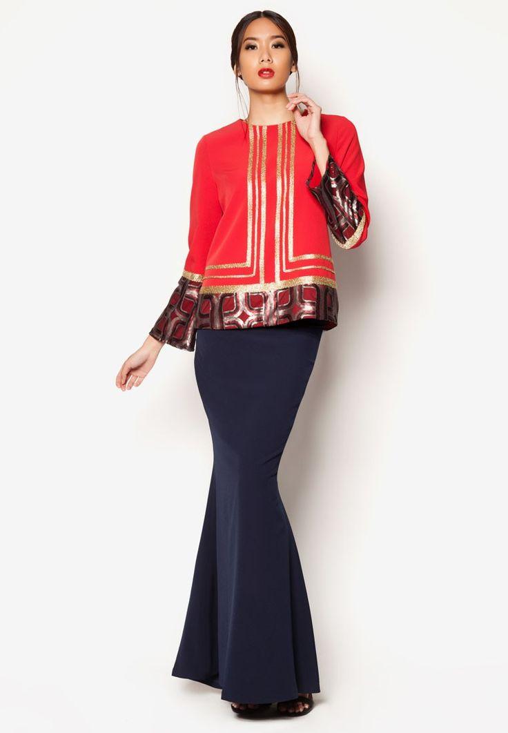 Buy Jovian Mandagie for Zalora Art Deco Ashka Baju Kurung Online | ZALORA Malaysia
