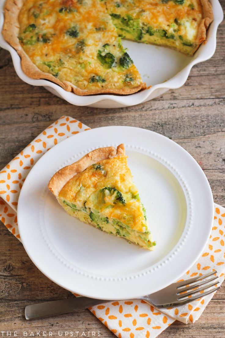Broccoli cheese quiche - a delicious one-dish meal the whole family will love!