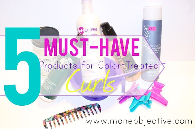 5 Must Have Products For Color Treated Curly Hair