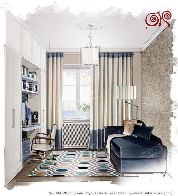 Лаконичный дизайн детской комнаты для мальчика  http://www.ok-interiordesign.ru/ph_dizain-detskoy-komnaty.php