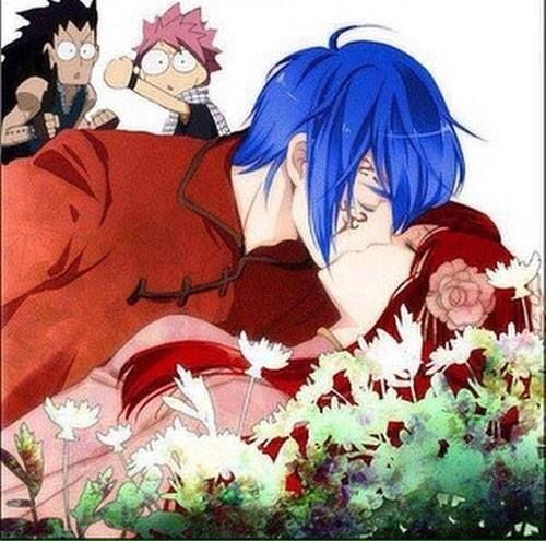 jellal&erza><<I love this, not only because of jerza, also because of Gajeel and Natsu in the background!!!