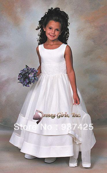 satin robe de bal filles fleur robes concours réservoir bow sash personnaliser petites filles des robes de mariée robes de soirée robes de danse