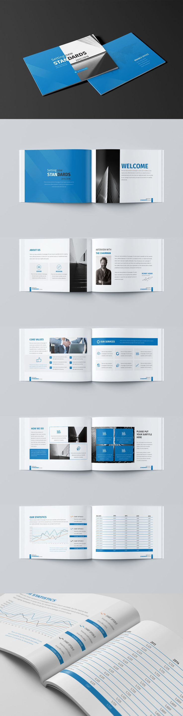 Mini Business Brochure 12 Pages A5 Template InDesign INDD