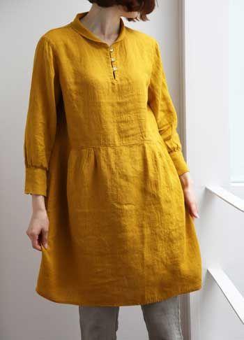 linen dress Japan
