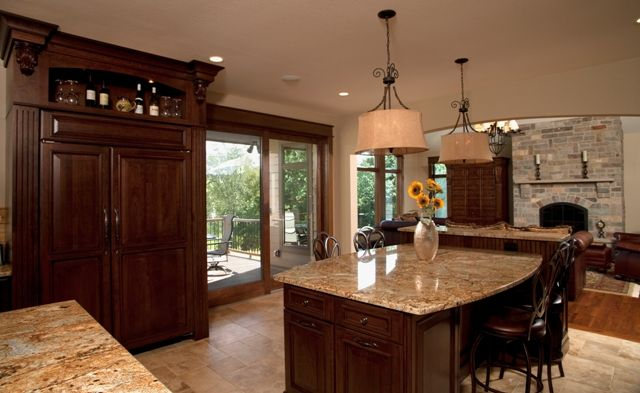 Traditional Kitchen Amp Living Room Design With Open Concept