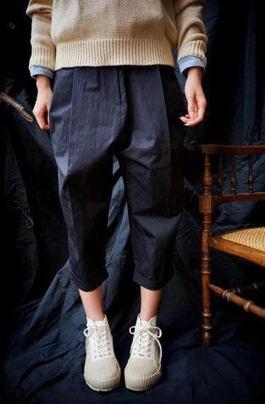 Studio Nicholson ( ENGLAND ) MONTI VOLUME PLEAT PANTS www.lancah.com