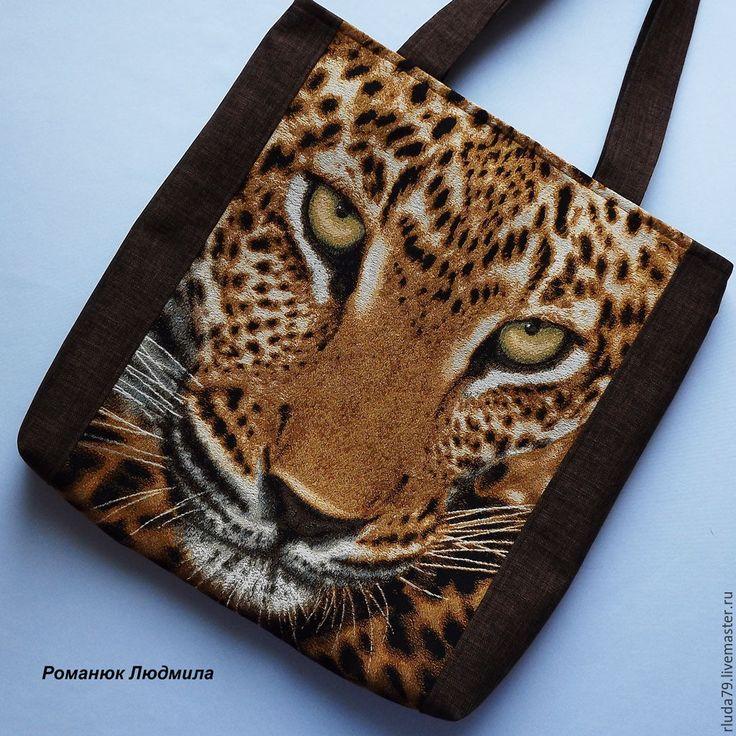 """Купить Сумка женская """"Леопард"""" сумка из гобелена, текстиля - сумка ручной работы, сумка из гобелена"""