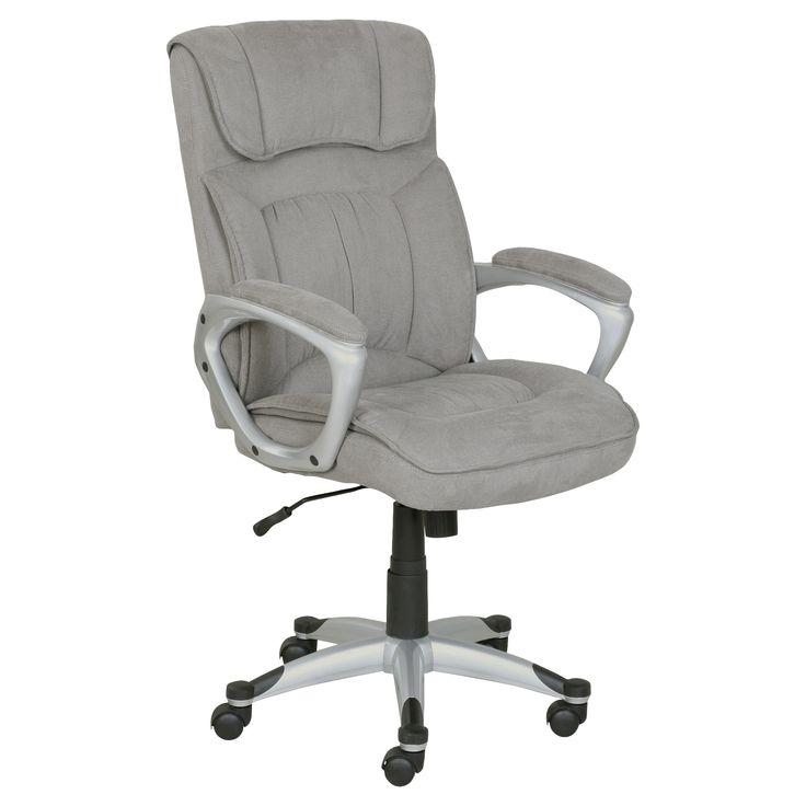 Cyrus Executive Office Chair - Lite Gray - Serta