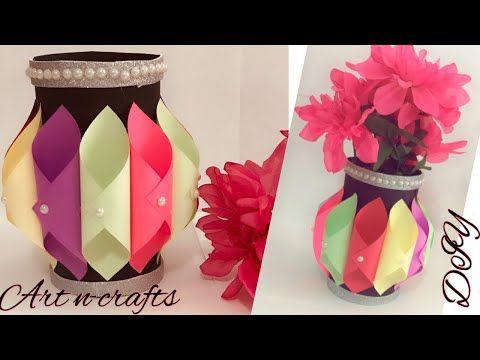 Making Paper Flower Vase How To Make A Flower Vase At Home Simple