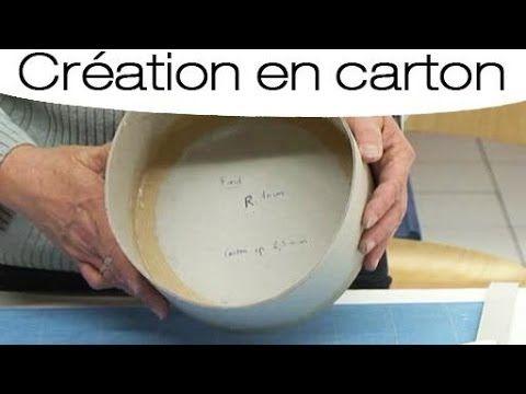 Fabriquer une boite ronde en carton : mode d'emploi - YouTube