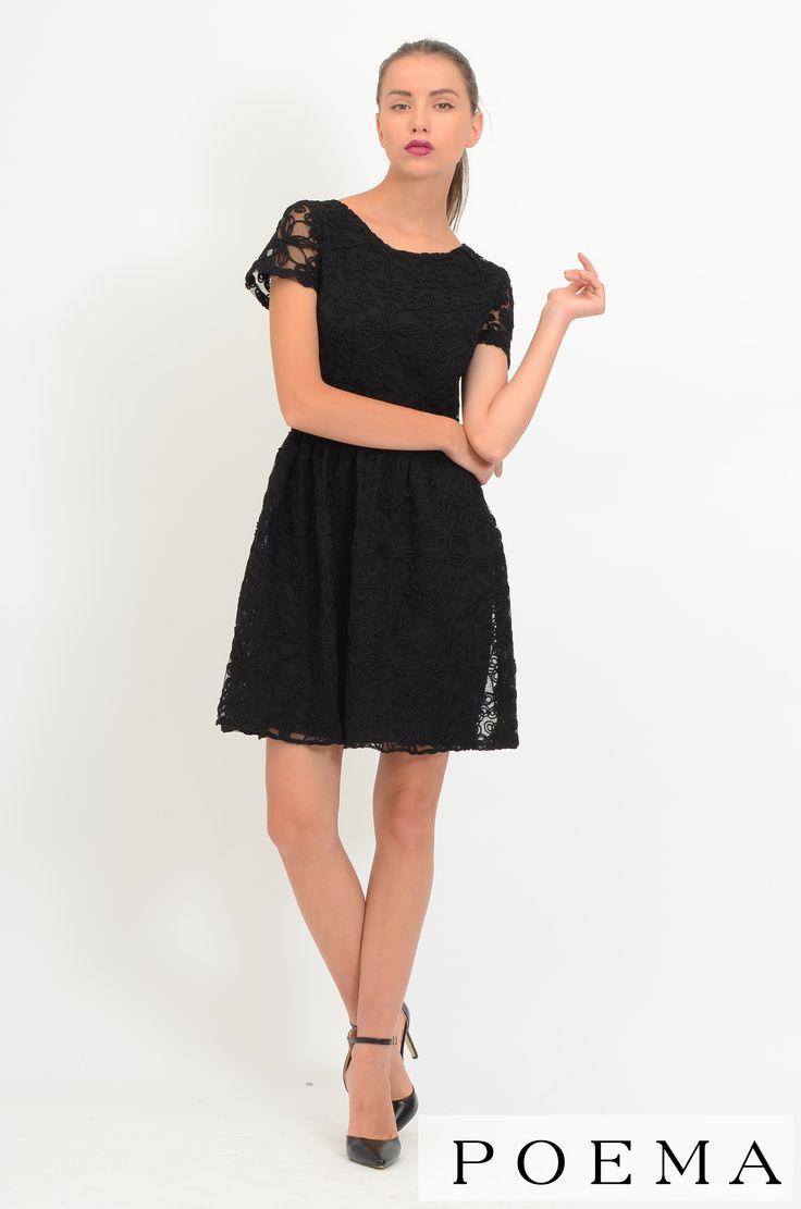 Rochie din dantela neagra POEMA http://shop.poema.ro/poemashop