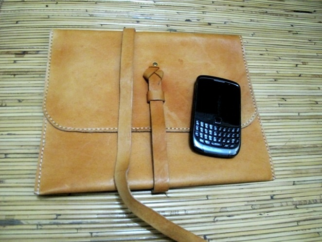 Ipad leather case, made in Bantul, Jogja, Indonesia.
