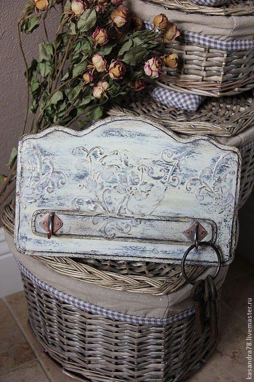 Купить Настенная вешалка для кухни Прованс - белый, вешалка для кухни, Вешалка для полотенец, вешалка декупаж
