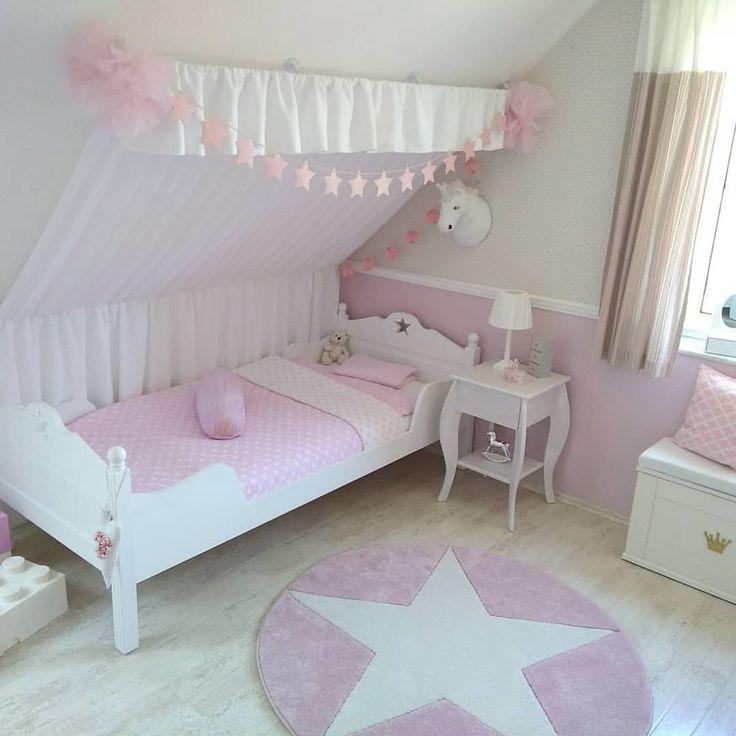 …das Prinzessin-Zimmer😍 #Girl's room #children's room #unicorn #Mädchenzim…