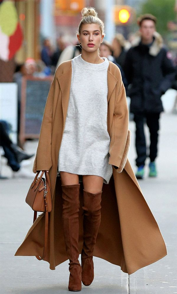 Street style look Hailey Baldwin