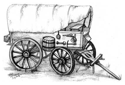 wagon train coloring pages | Lindsey - calculate needed supplies taking cost and weight ...
