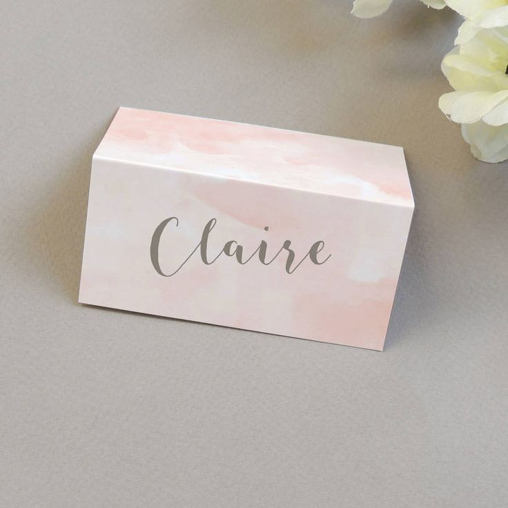 wedding table name card size%0A Add the finishing touch to your wedding tables with these pretty  watercolour place cards from our