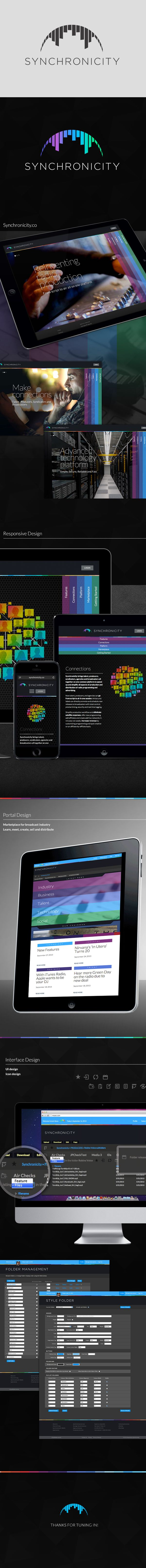 SYNCHRONICITY: Identity & Web Design on Behance