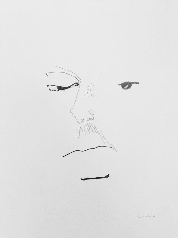 "Elle Luna ""Michael"" 2014 Graphite on paper"
