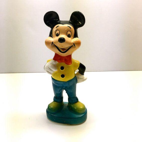 Vintage Mickey Mouse Figurine  Japan Ceramic by vintagetoolbox