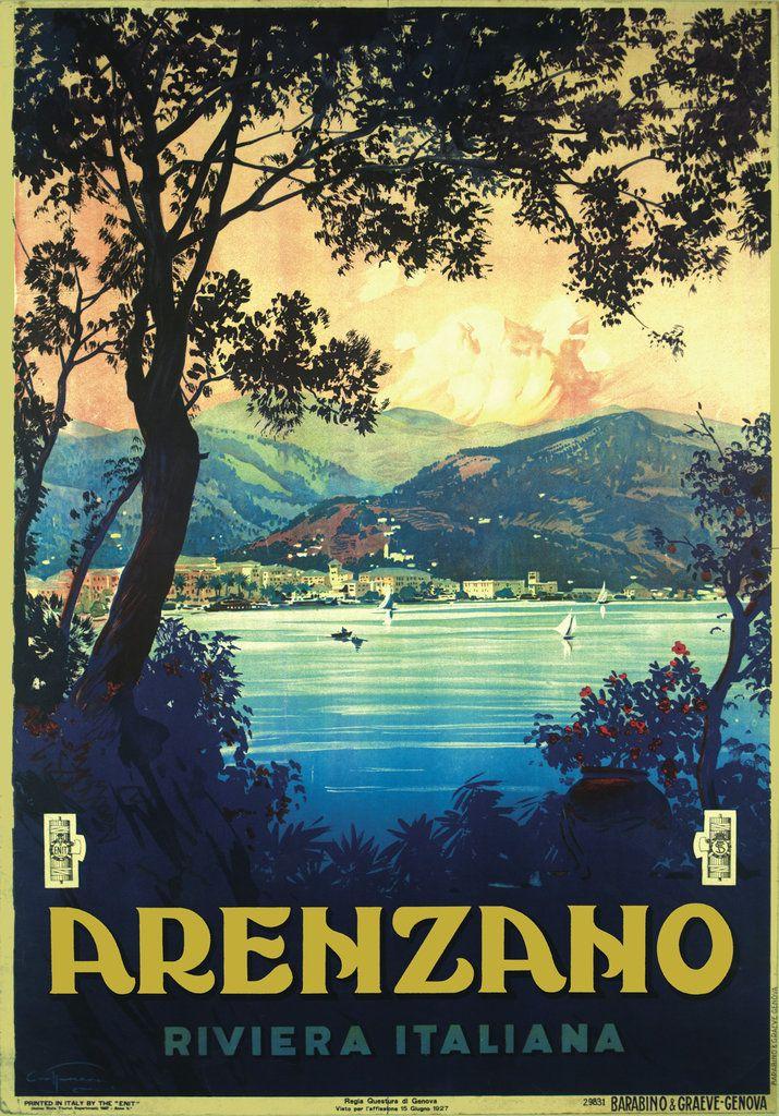 Vintage Italian Posters ~ #Italian #vintage #posters ~ Arenzaho riviera italiana