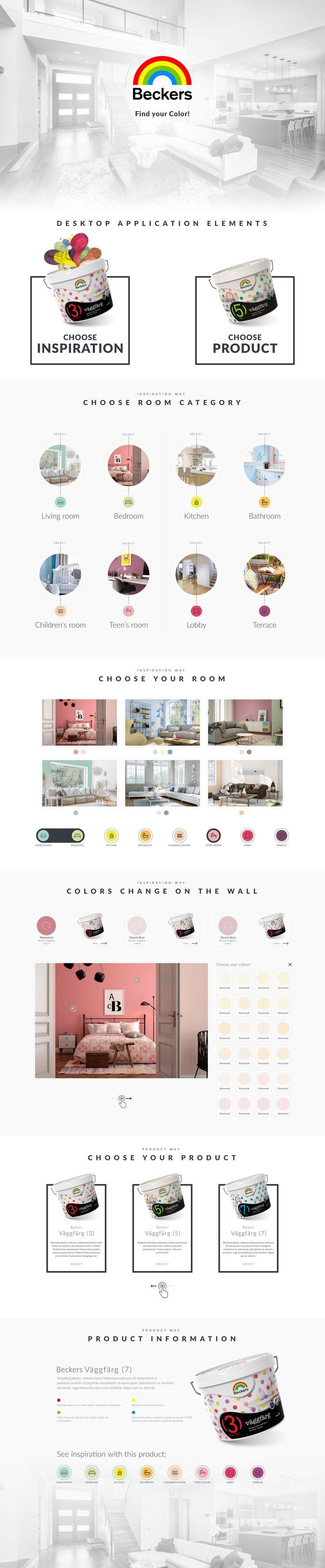 Beckers paints application, clean design, app