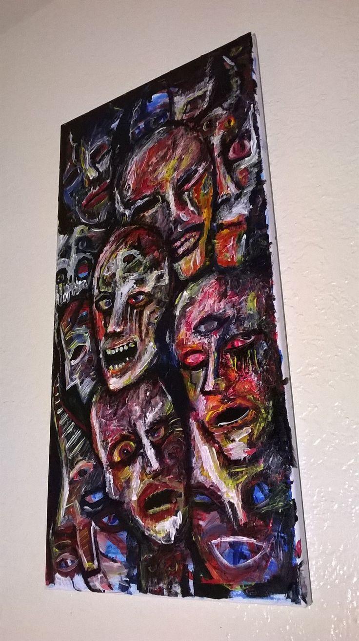 "ZOMBIE ART 12"" x 24"" Original Art on Canvasby Jack Larson"