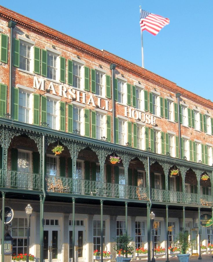 The Marshall House in Savannah, Georgia!  Fabulous and haunted!! Oldest hotel in Savannah. Stayed there.