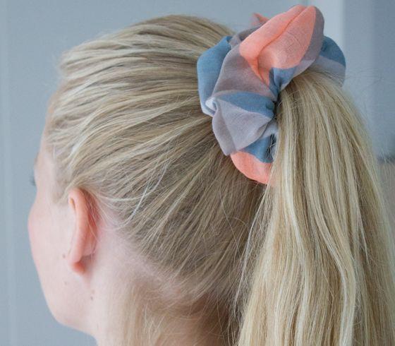 DIY - Hårelastikker (scrunchies)