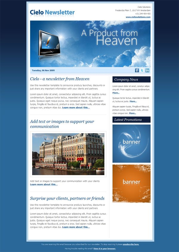 Online Newsletter Templates Download For Business  Google Keress