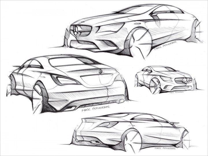 Mercedes-Benz CLA-Class Design Sketches